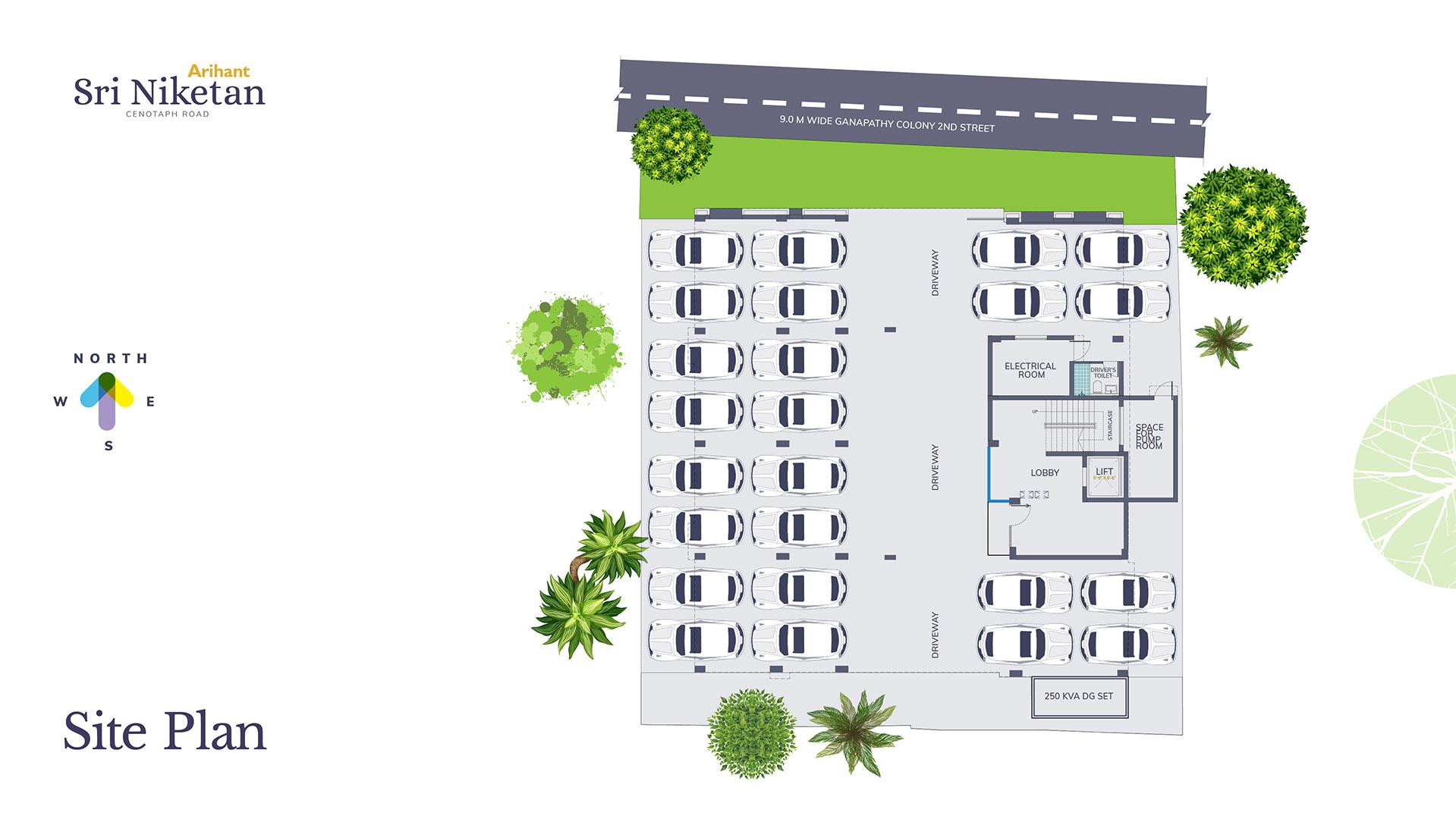 Sri Niketan Site Plan