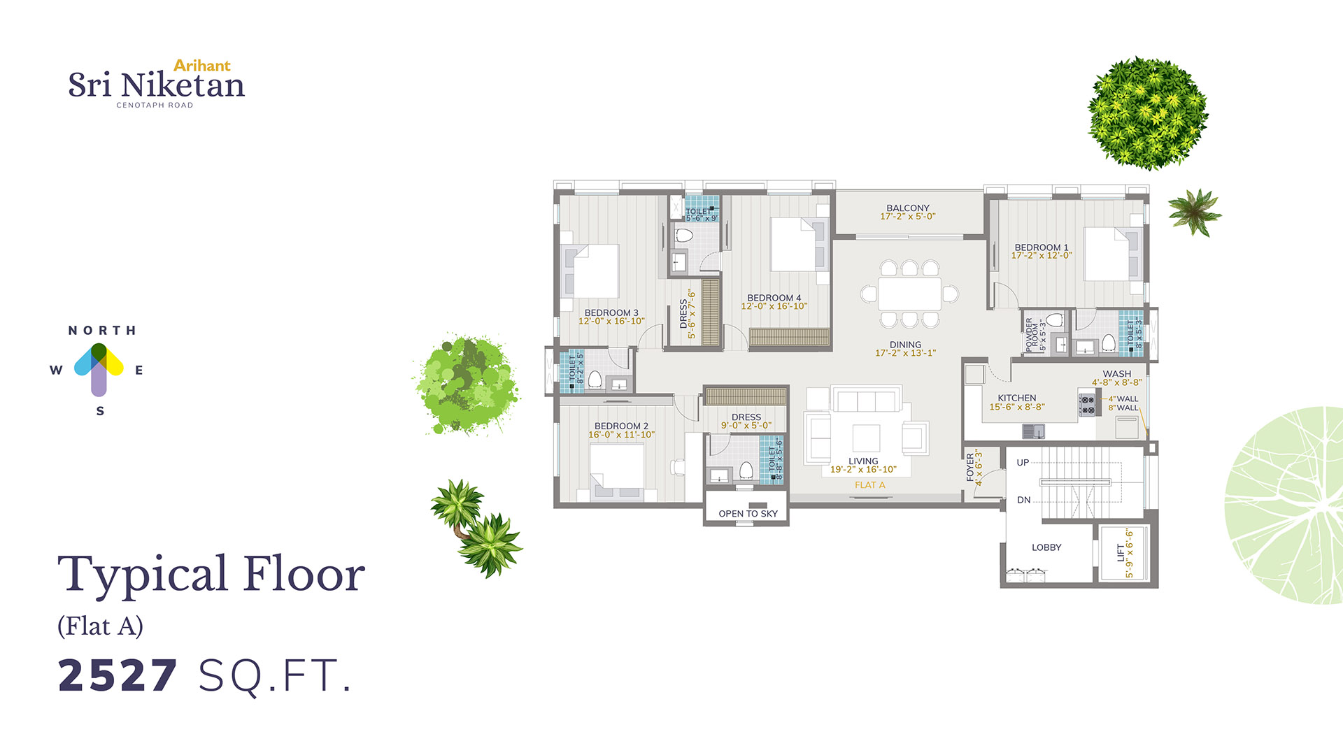 Typical Floor - Flat A