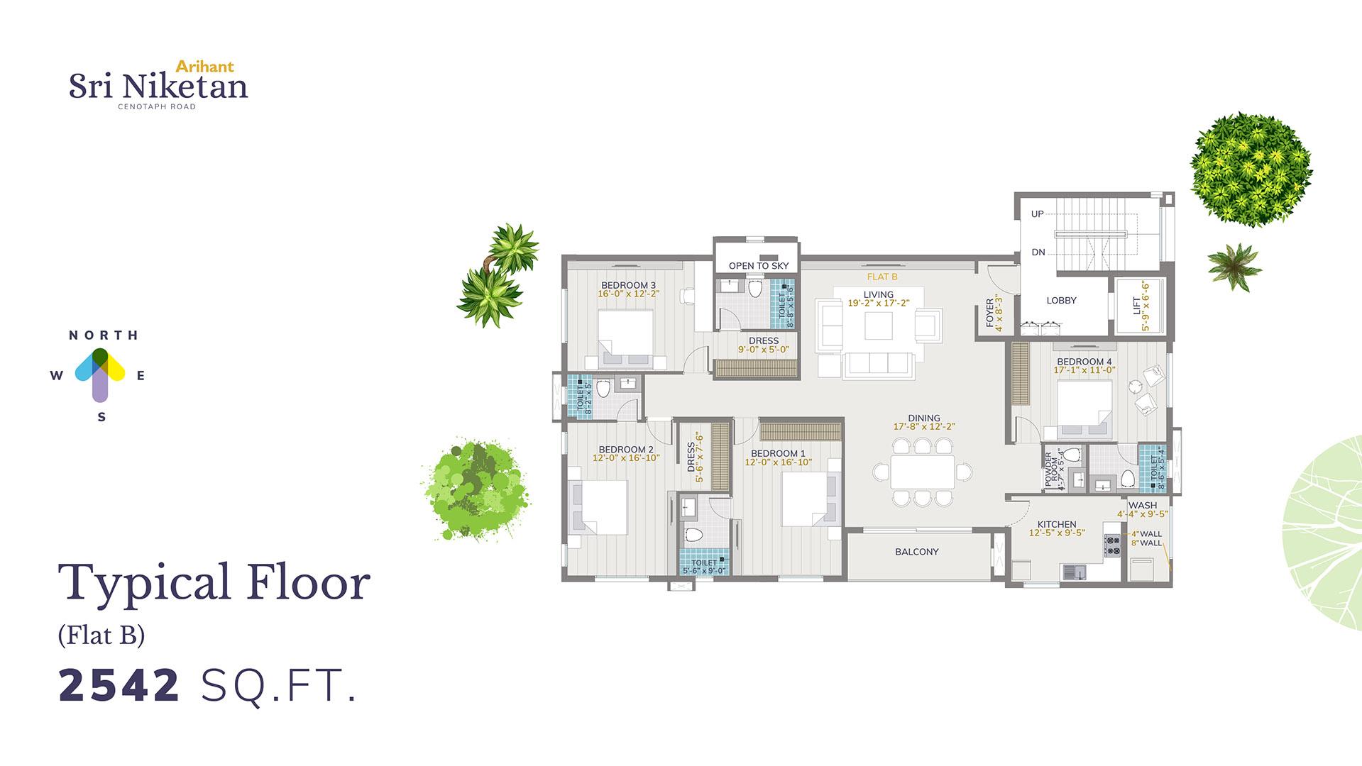 Typical Floor - Flat B