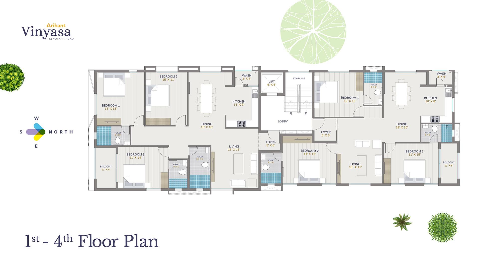 Vinyasa 1st - 4th Floor