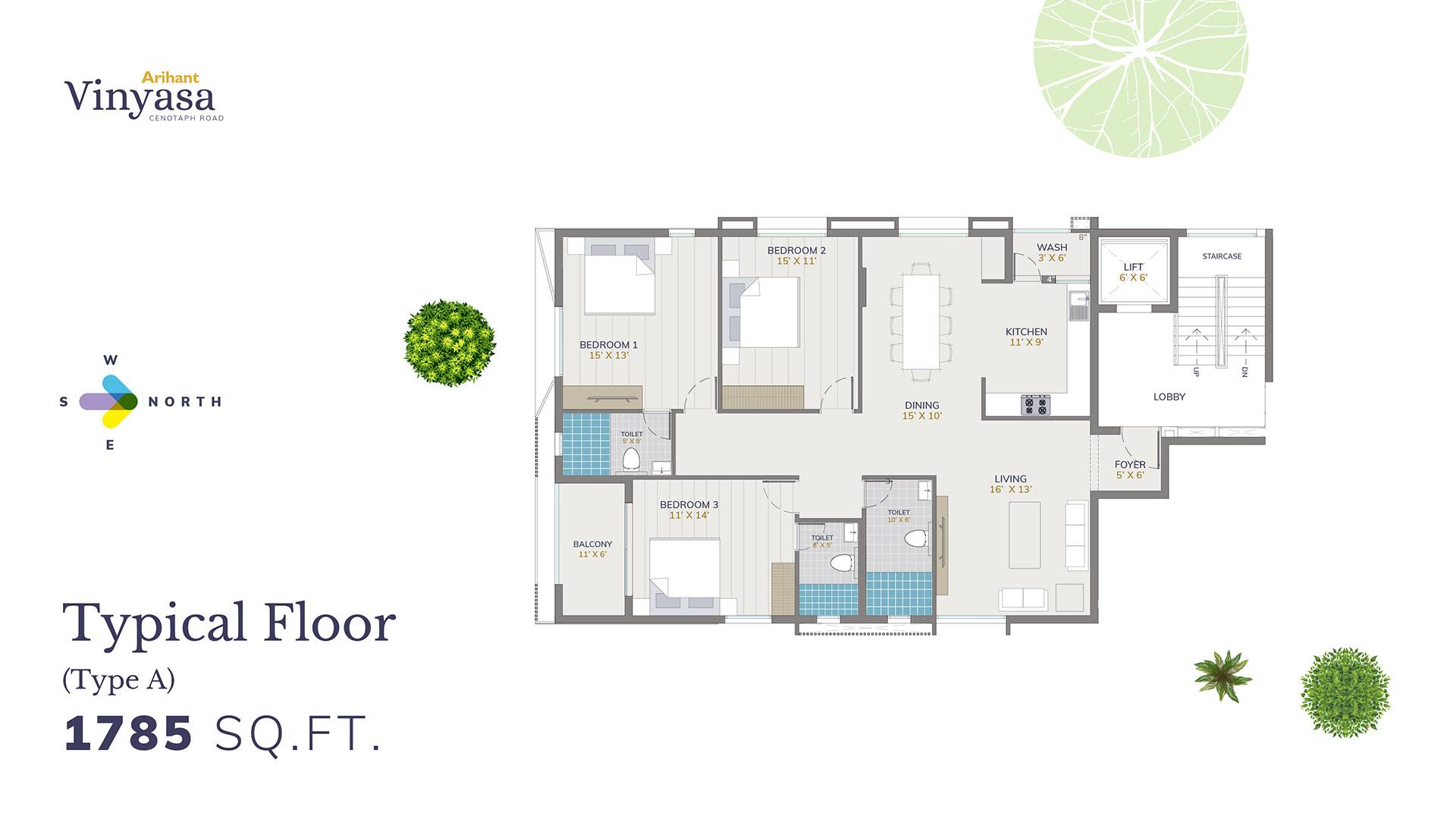 Vinyasa Typical Floor