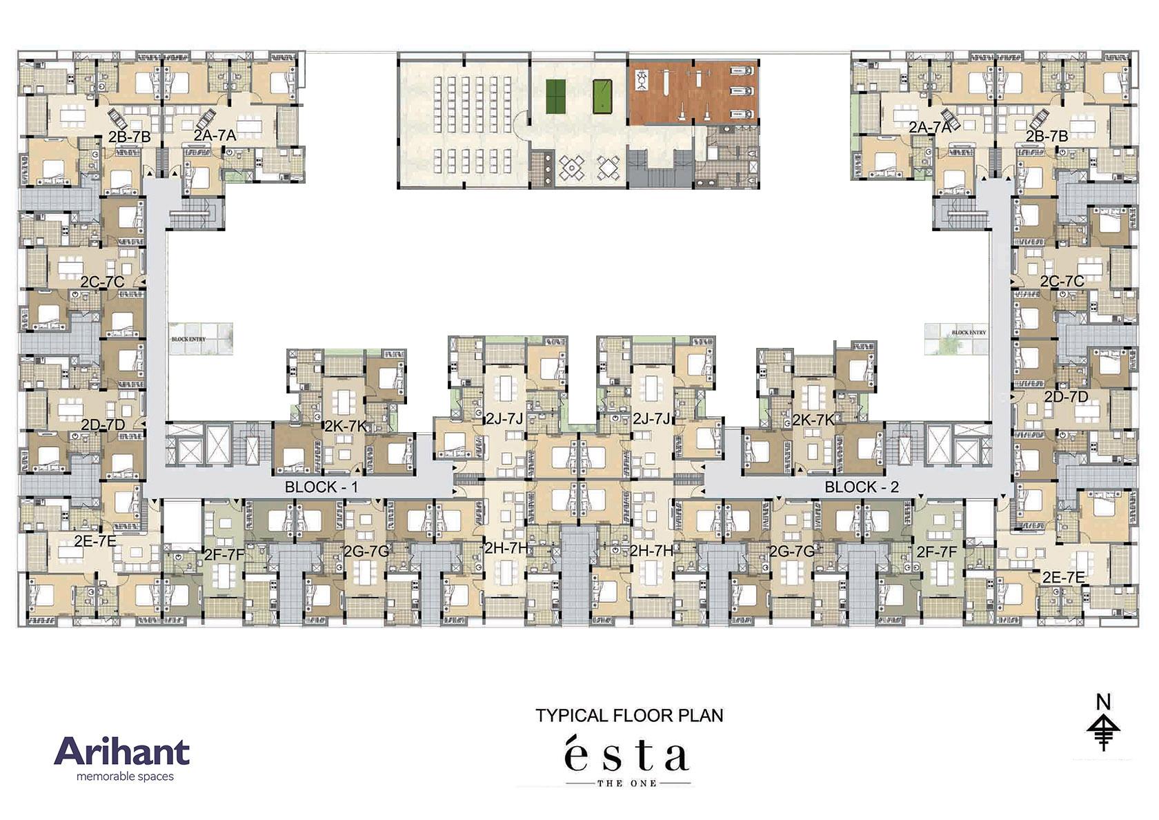 Arihant - Esta_Typical Floor Plan-02