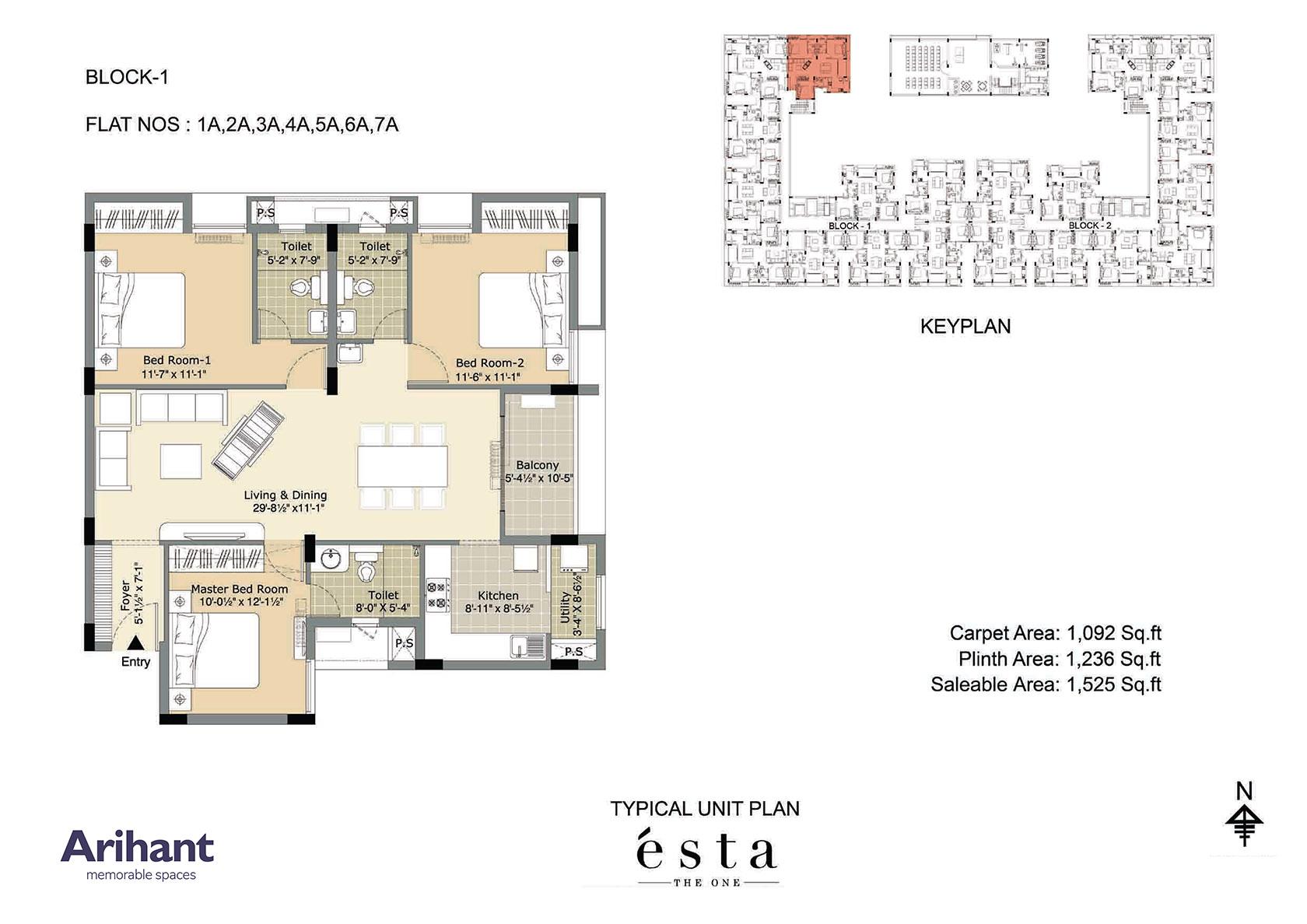 Arihant - Esta_Typical Unit Plan - Block 1 - Type A