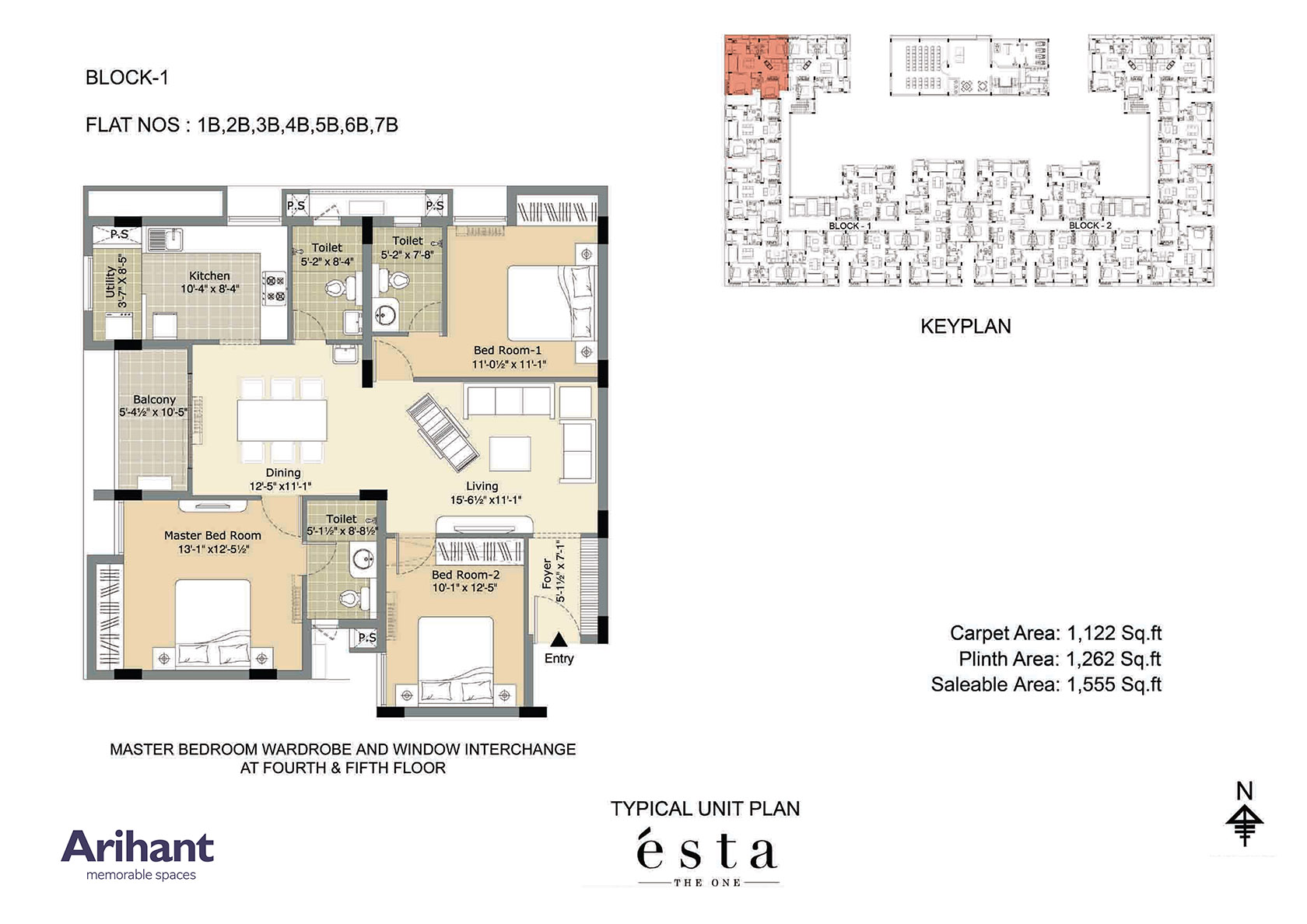 Arihant - Esta_Typical Unit Plan - Block 1 - Type B