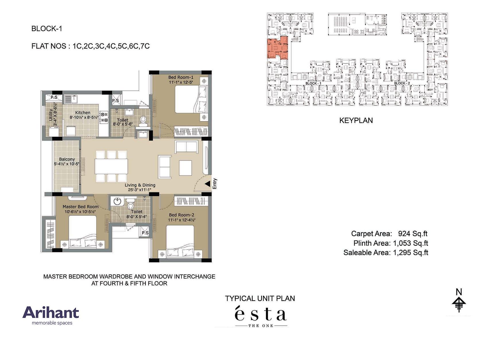 Arihant - Esta_Typical Unit Plan - Block 1 - Type C