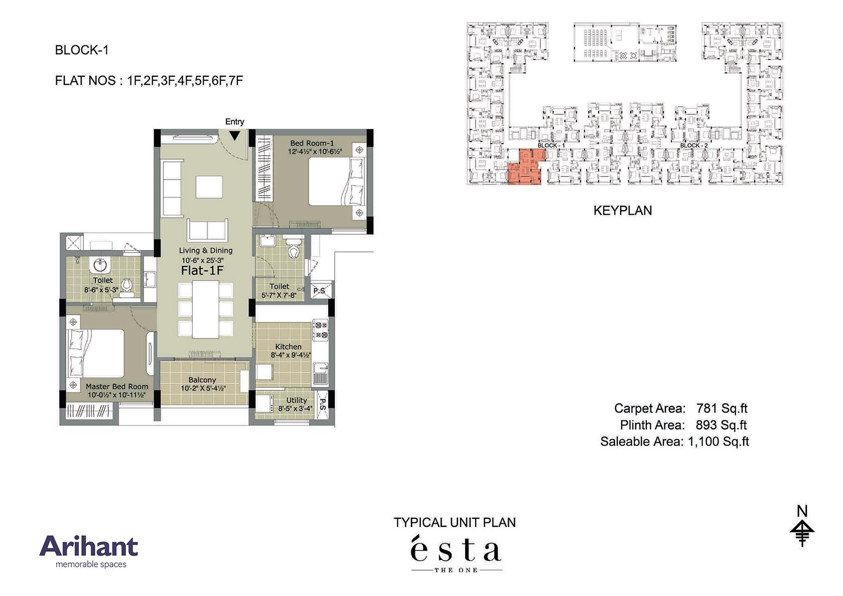 Arihant - Esta_Typical Unit Plan - Block 1 - Type F
