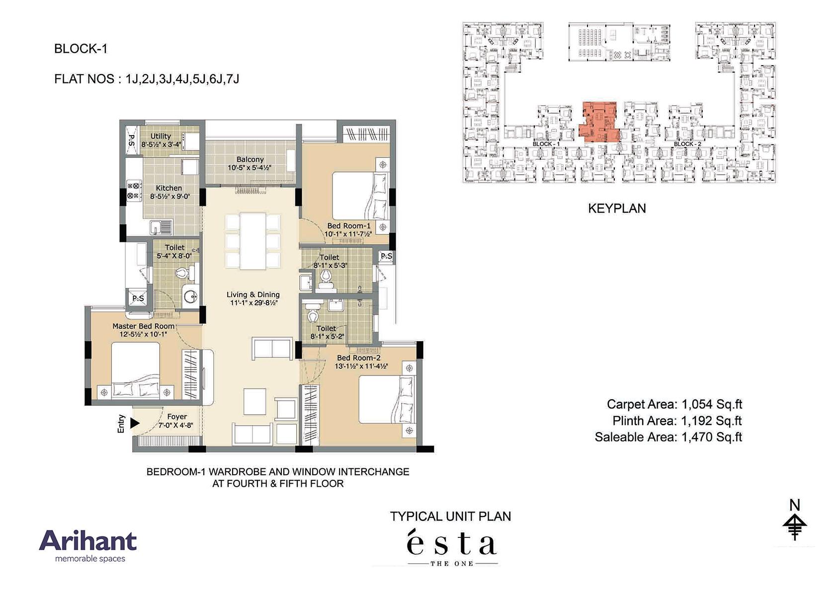 Arihant - Esta_Typical Unit Plan - Block 1 - Type J