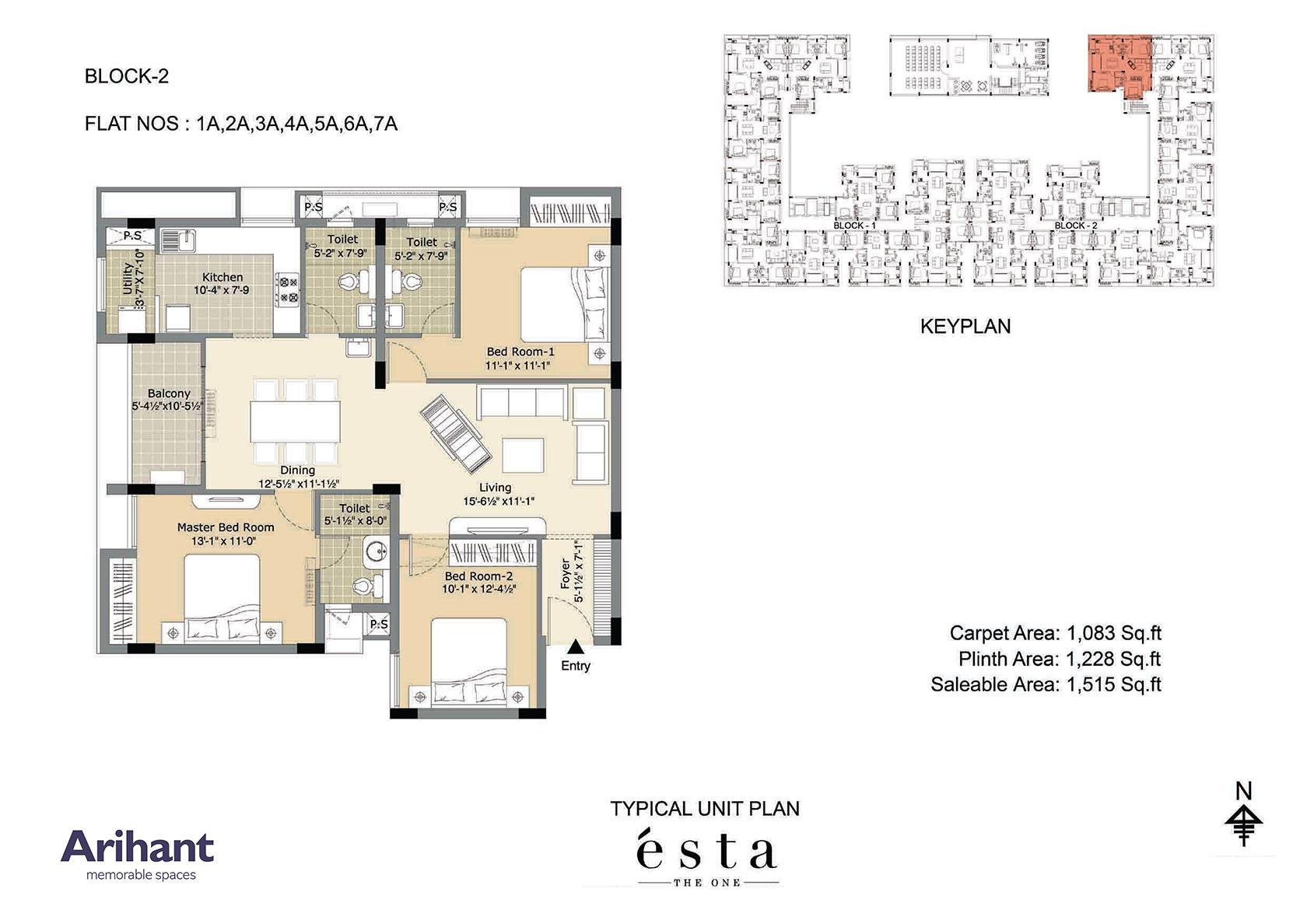 Arihant - Esta_Typical Unit Plan - Block 2 - Type A