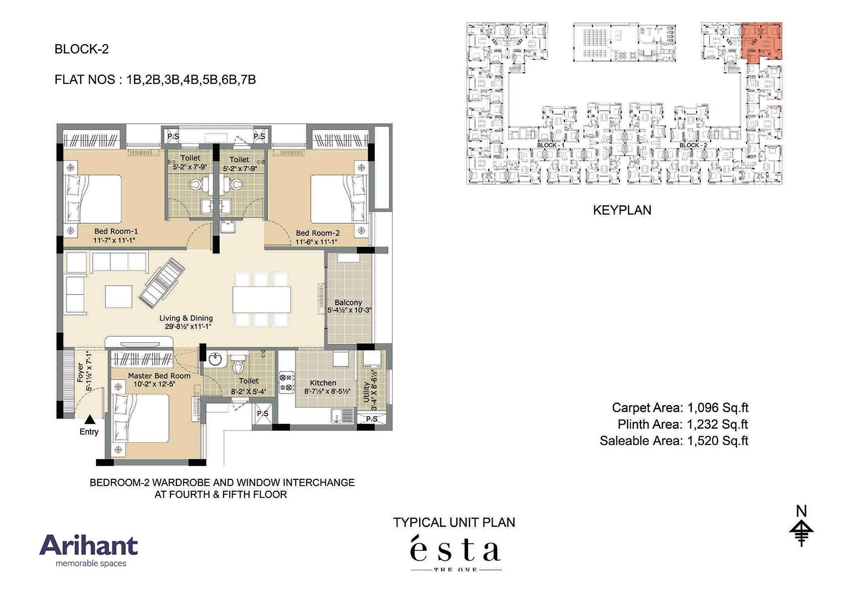 Arihant - Esta_Typical Unit Plan - Block 2 - Type B