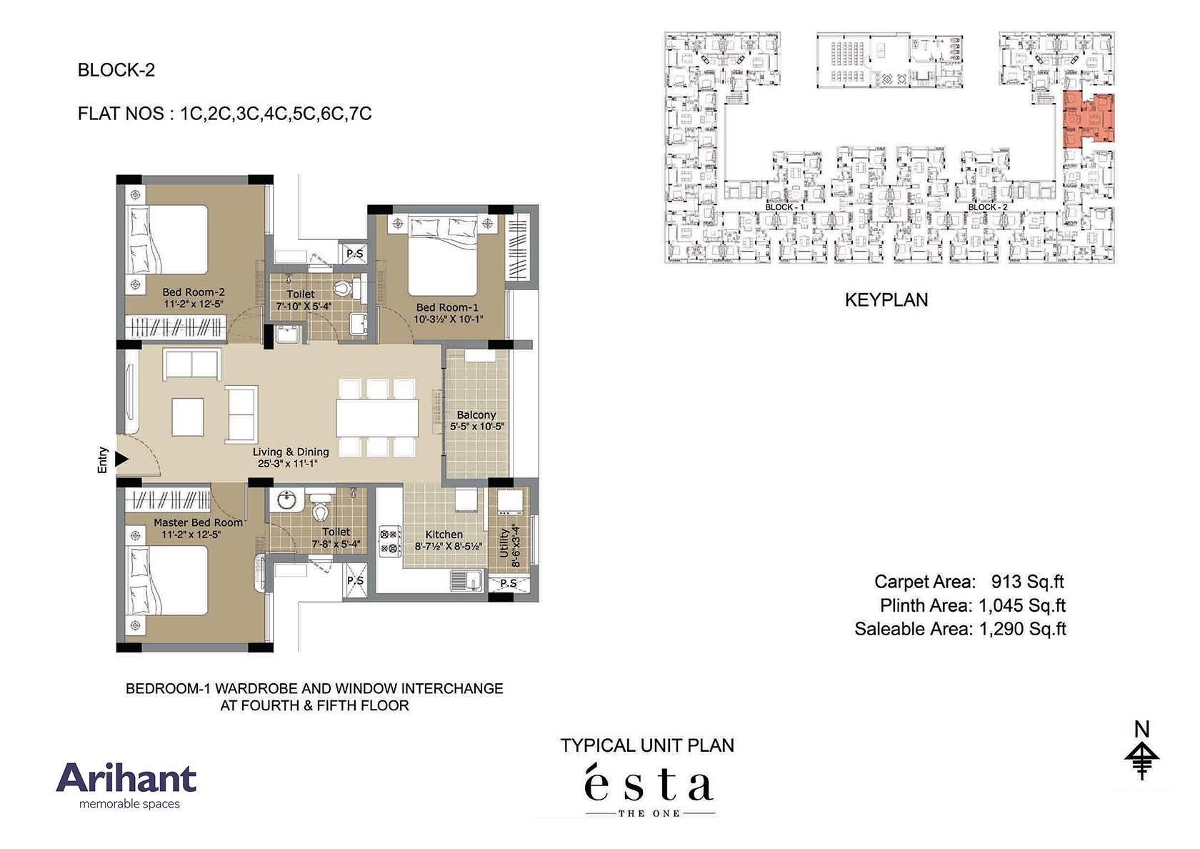 Arihant - Esta_Typical Unit Plan - Block 2 - Type C