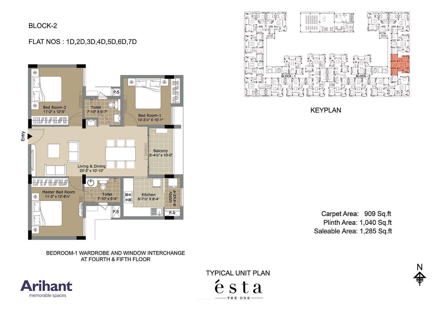 Arihant - Esta_Typical Unit Plan - Block 2 - Type D