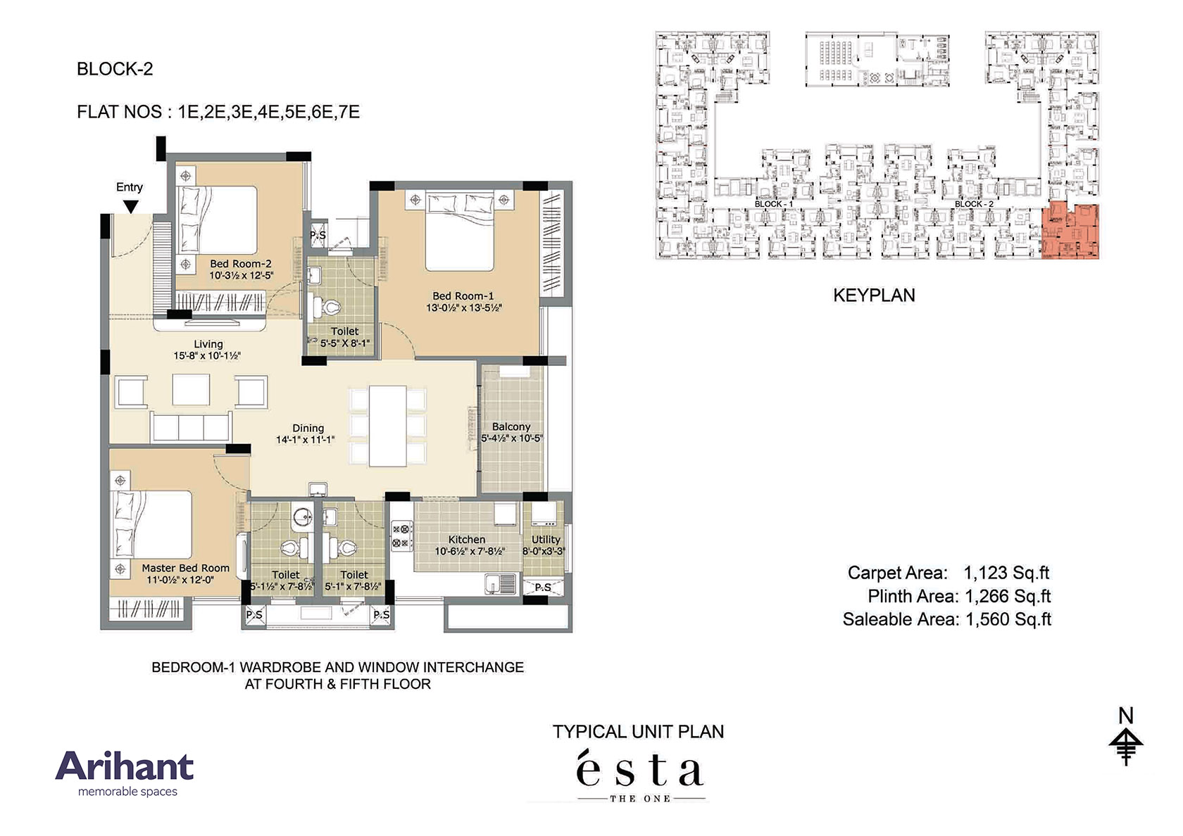 Arihant - Esta_Typical Unit Plan - Block 2 - Type E