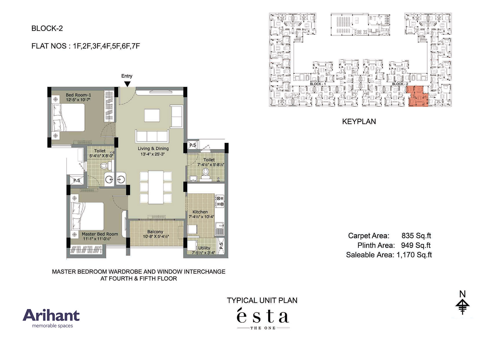 Arihant - Esta_Typical Unit Plan - Block 2 - Type F