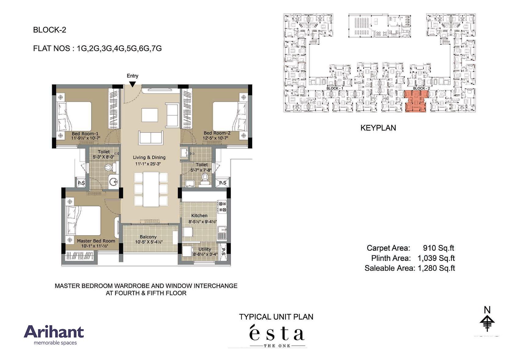 Arihant - Esta_Typical Unit Plan - Block 2 - Type G