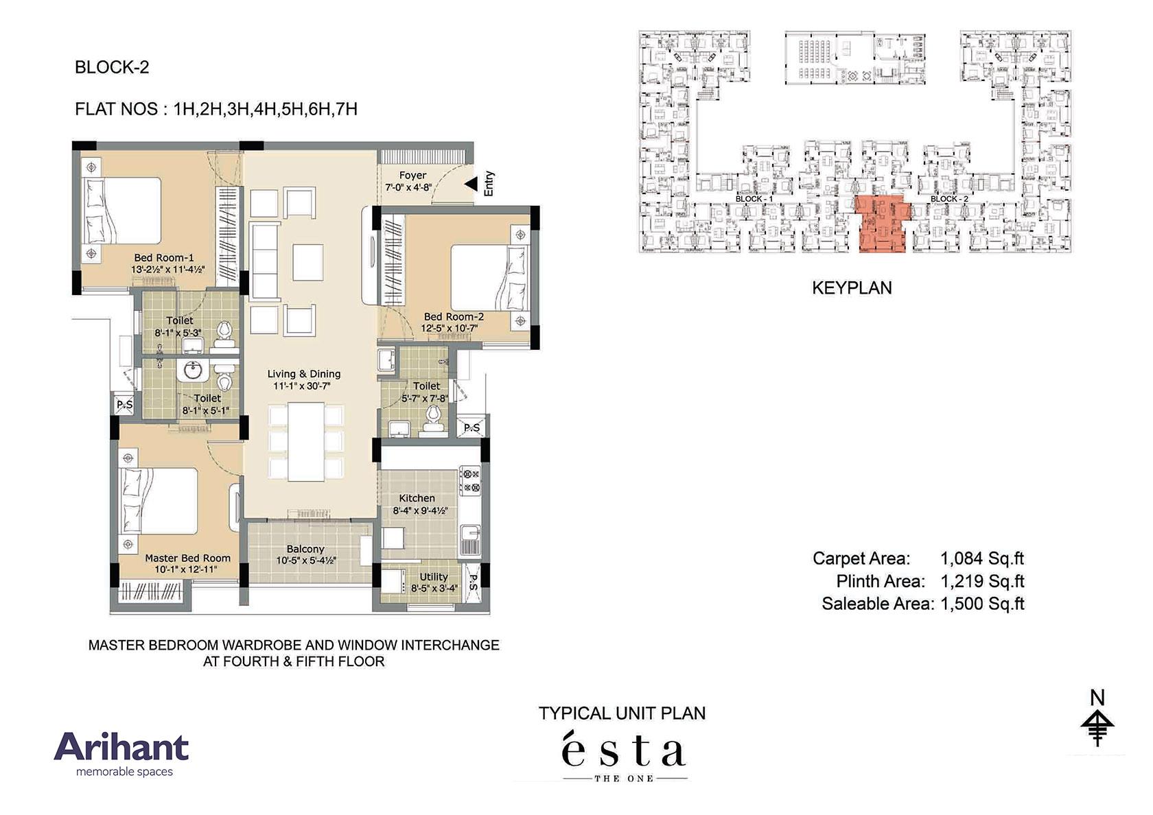 Arihant - Esta_Typical Unit Plan - Block 2 - Type H