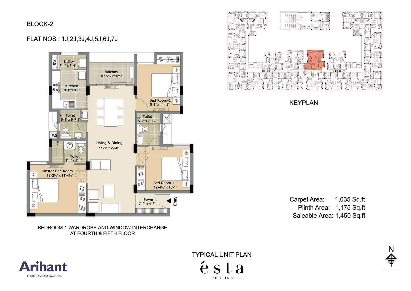 Arihant - Esta_Typical Unit Plan - Block 2 - Type J