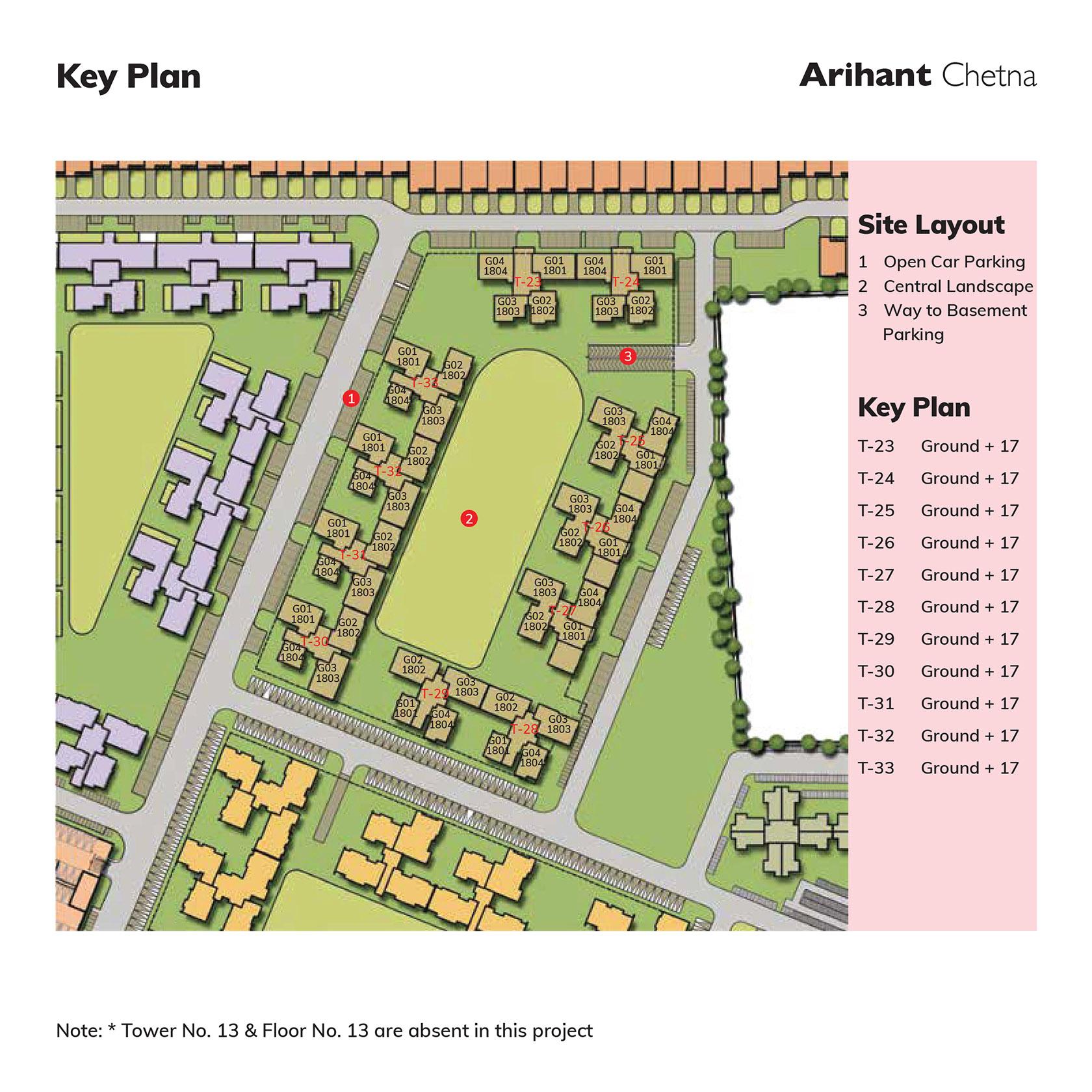 Arihant Chetna Key Plan