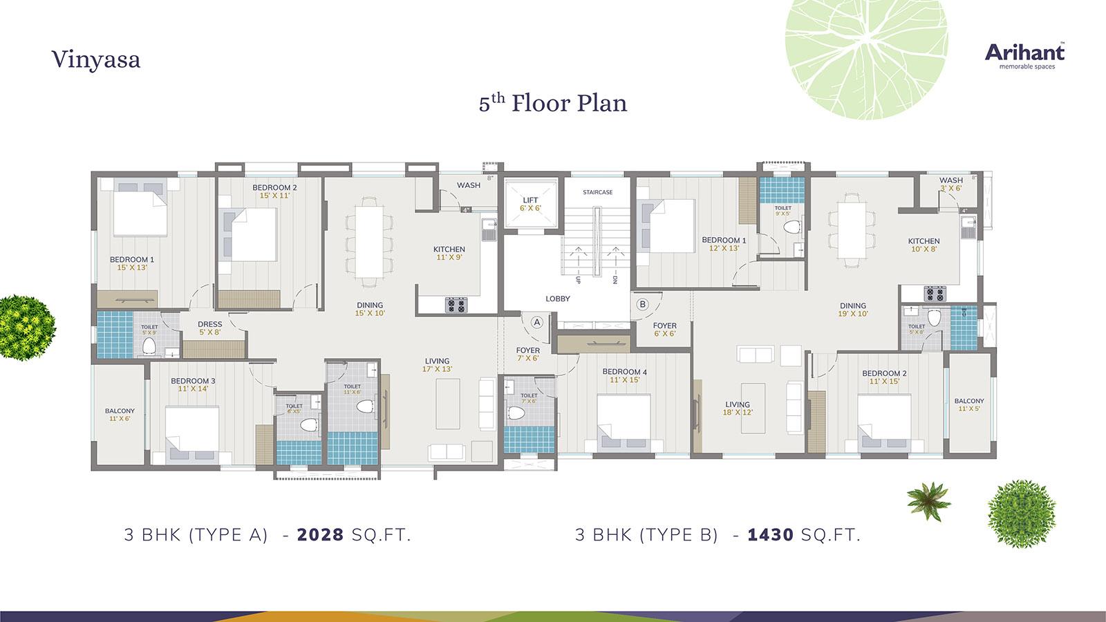 Arihant Vinyasa 5th Floor