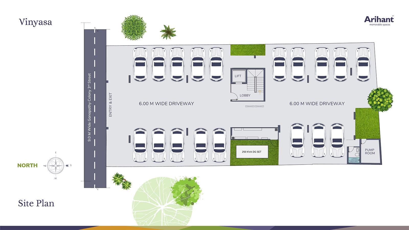 Arihant Vinyasa Site Plan