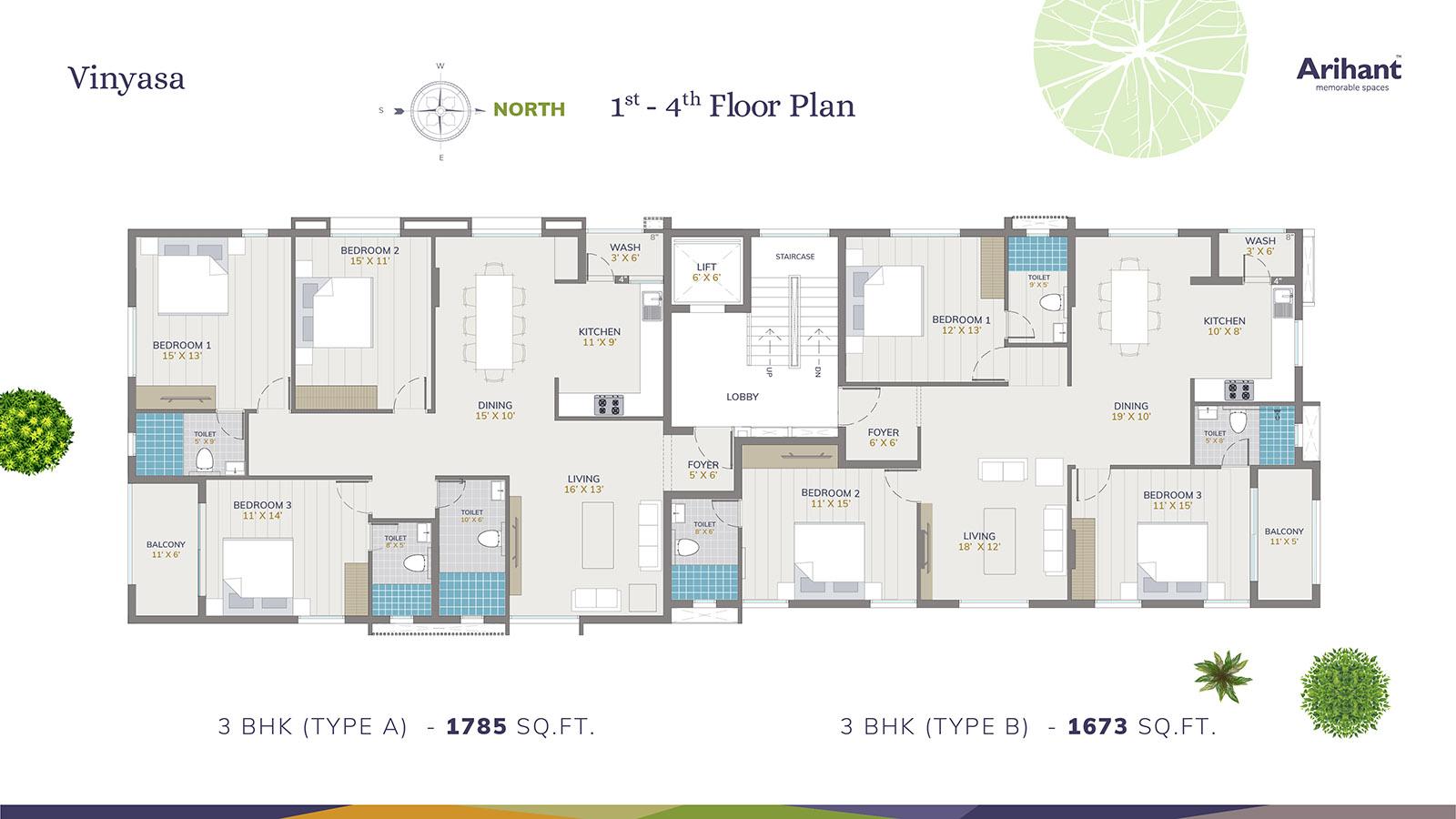 Arihant Vinyasa Typical Floor