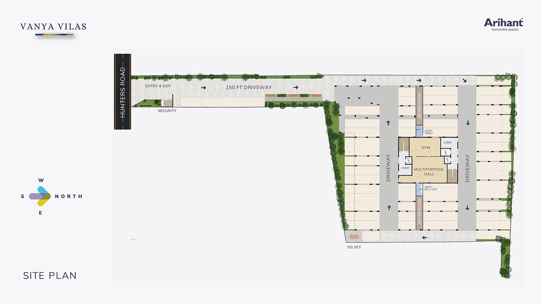 1 Arihant Vanya Vilas Site Plan