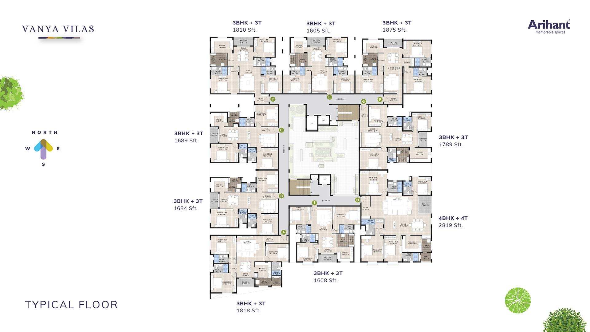 3 Arihant Vanya Vilas Typical Floor